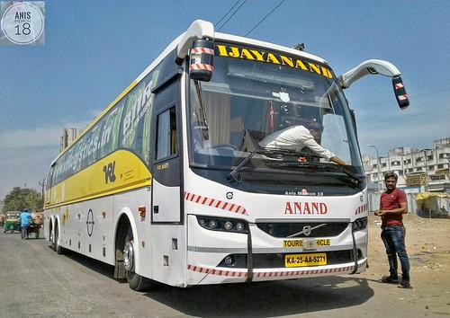 Vrl Travels Multi Axle Volvo B11r Semi Sleeper Bus Ka 25 Aa