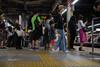 night platform (kasa51) Tags: people station platform street night yokohama japan 駅 プラットホーム motionblur