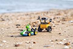 No Vehicles On The Beach (Skyline:)) Tags: formsoftransportation crazytuesdaytheme 7dwf walle sand seaside fun humour smile kart mario