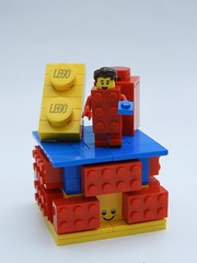 Brick Suit Guy - Series 18 Vignette (justin_m_winn) Tags: lego minifigure series 18 brick suit guy moc