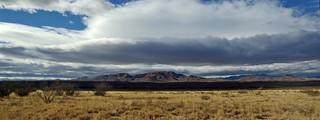 Bosque del Apache National Wildlife Refuge.  View toward Chupadera Mountains. New Mexico, USA.