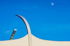 Daylight moon above Highway. St. Petersburg. (pashaty) Tags: sonye a6000 takumar 135mm f35 moon highway sky viltroxbooster landscape art travel