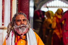 Baba During Holi, Vrindavan India (AdamCohn) Tags: adamcohn india vrindavan baba celebration colorful colors gulal guru holi wwwadamcohncom