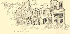 Place du Marché - Liège (lolo wagner) Tags: liège belgique rencontre dessin croquis sketch usk urbansketchers