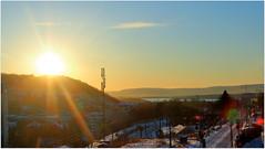 Winter sun (Marie Helèn) Tags: winter sun ekebergåsen oslo oslove oslofjord nesodden sky bluesky heavenabove canon sunrays rays wow landscape cityscape skyscape truecolors nofilter 24105mm lenseflare flare