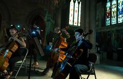 DSC00469 (Saundi Wilson Photography) Tags: prometheusorchestra churchoftheadvocate philadelphia philly classicalmusic cello chambermusic stainedglass concert bowing strings