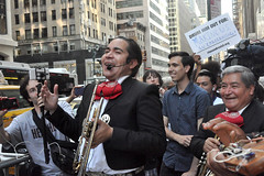 band (greenelent) Tags: notrump protest demonstration riseandresist streets people activists nyc newyork
