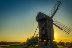 Stubbkvarnen och solnedgången. (MagnusBengtsson) Tags: fotosondag fs180527 byggnadsverk mölla kvarn mill solnedgång sunset landskap landscape skåne