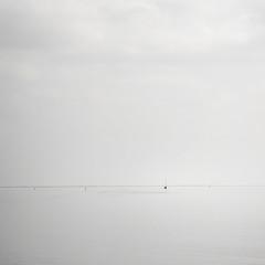 Minimalistic view on the Wadden Sea (jkiter) Tags: highkey boje deutschland langeoog wattenmeer segelboot fahrzeug minimalistisch nordsee boot germany vehicle waddensea minimalistic northsea