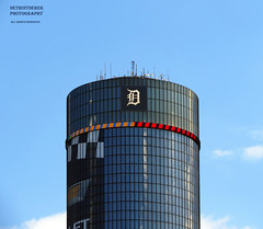 "Love For The Old English ""D"" (DetroitDerek Photography ( ALL RIGHTS RESERVED )) Tags: allrightsreserved detroit 313 downtown motown urban city michigan rencen renaissancecenter gm generalmotors hq headquarters sign skyscraper baseball team game motorcity icon canon hs40 eos digital may 2018 detroitderek"
