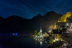 A Night At The Outpost (Tim van Zundert) Tags: hdr highdynamicrange hallstatt gmunden salzkammergut austria hallstättersee europe lake water reflection mountains sky stars town village houses night evening longexposure sony a7r voigtlander 21mm ultron