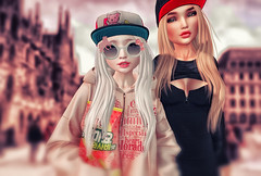My mother and I, ready to snack! (ZameNezrulain (:Etherion:)) Tags: zame luna mesh bento kawaii truth zenith cute friends friendship family photo photography photoshop secondlife sl second life women girls