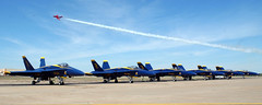 image from us military (San Diego Air & Space Museum Archives) Tags: blueangels airshow demoteam fatalbert fa18a hornet people pilots ftworth texas usa