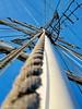 Human's web (Mattijsje) Tags: mess web lines mast boat ship schip touwen ropes blue blauw kraaiennest kraaienest crowsnest top