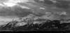 Spotlight (Traylor Photography) Tags: alaska landscape monochrome pottermarsh lightrays panaroma snow sewardhighway mountain anchorage clouds unitedstates us