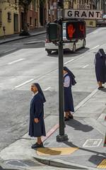 Sisters of Orange (SPP - Photography) Tags: california steet nnun streetphotography chinatown sisteroforange sister notredamedesvictoireschurch sanfrancisco