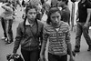 Sisters (.sl.) Tags: mexico mexique streetphotography zocalo sister girl portrait people street blackandwhite bw crowd