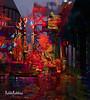 Soggy Commute (brillianthues) Tags: bridge ben franklin philadelphia urban cars rain colorful collage photography photmanuplation photoshop