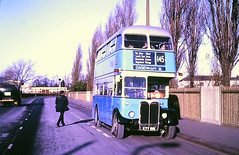 Slide 116-62 (Steve Guess) Tags: dagenham barking london essex england gb uk bus aec regent iii rt rt3232 kyy961 lrt regional transport