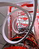 Berlingo (ANOZER Photograffist) Tags: paris france archi architecture design citroen showroom deco decoration red rouge spirale spire up curve stripes lines graphic anozer anozercreation photo photographie shop interior