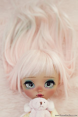 Little Mikuru *tomorrow* (-Poison Girl-) Tags: pullip pullips custom customs mei 2018 for adoption fa poisongirlsdolls poisongirldolls poison girl tan tanned skin skintone pink hair wig long wavy waves fringe bangs eyes eyechips green handmade handpainted repaint repainted paint realistic blush nose carving carved mouth lips freckles pecas sculpt sculpted eyeshadow eyebrows eyelashes makeup faceup sweet cute natural kawaii japan collector junplanning groove grooveinc mocha