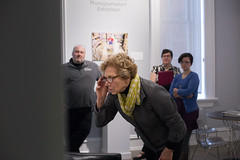 """Sighting Progress"" gallery walk through with Merry Foresta. Photos by Hannah Schroeder (Voinovich School of Leadership & Public Affairs) Tags: kennedymuseum spring2018 voinovichschool voinovichschoolofleadershipandpublicaffairs ridges"