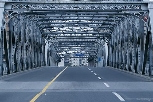 外白渡桥上