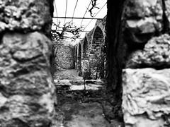 Peeping behind the wall_IMG_8301 (AchillWandering) Tags: aetoloacarnania fysiolatris nafpaktos greece aitoloakarnania dof window stone