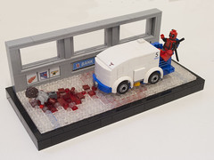 You're About to be Killed by a Zamboni! (Ben Cossy) Tags: deadpool wade wilson zamboni movie blood ice icestaking staking hockey marvel mcu fox comic comicbook merc with mouth