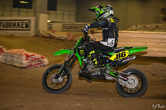 Lucas, KX65, indoor MX (K.J Photo) Tags: mx motocross kawasaki kx 65 dirt moto 2 smoke denmark danmark europe slagelse