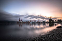 April 12, 2018. (Amanda Catching) Tags: today longexposure light city skyline vancouver crab park