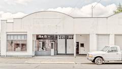 M Street (llabe) Tags: street white garage truck highkey tacoma washington nikon d750