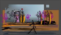 Andando por ahí (Amparo Higón) Tags: valencia digitalart digitalpainting kunst modernekunst moderneart artemoderno walking andando coreldraw art arte amparohigón