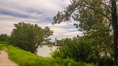 Riverside Path (kensparksphoto) Tags: bowriver calgary carburnpark alberta path riverside trees sky clouds cloudsstormssunsetssunrises