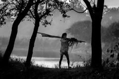 """shades of gray"" (A t i k R a h m a n) Tags: blackwhite bangladesh lifestyle people fisherman asia"