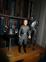 Grand Moff Tarkin with Death Star Droids Star Wars 4048 (Brechtbug) Tags: peter cushing grand moff tarkin with death star droid k2so or kaytuesso interrogation wars action figure toy toys villain villains 1964 1960s 60s 1977 1970s 70s movie film science fiction scifi spy adventure hot forbidden planet comics store nyc 2018 comicbook rogue one a new hope