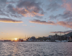 Spring in sunset (kraakenes) Tags: sunset spring seascape cityscape ship boats landscape cloudscape bergen norway norge