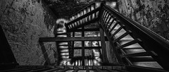 Vertigo (ChristianMandel) Tags: vertigo staircase tower blackandwhite bw ilce7 sonya7 voigtländer15mmf45iii ochsenturm