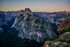 Yosemite National Park: Half Dome from Glacier Point at Sunset (Joshua Mellin) Tags: yosemite yosemitenationalpark summer 2018 west westcoast california park parks national unitedstates us usa america unitedstatesofamerica beautiful nature rock mountain mountains tree sunset colors halfdome glacierpoint anseladams photographer photography modern joshuamellin best travel traveling writer journalist photo pics pic pictures photos rare unique twitter instagram mood moody night evening dusk purple pink orange bright green blue dark hue hues ridges nationalpark nationalparks epic gorgeous iconic ideal tourism visitcalifornia cali trees leaves rocks natural beauty world