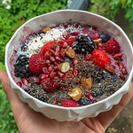 Acai Bowl with raspberry, strawberry, blackberry, pomegranate, almond and chia thumbnail