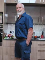 Todays Outerwear (p1161038) (ChrisBearADL) Tags: me photo blue pouch dad briefs bonds singlet