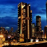 ..blue hour over the golden-lit city.. thumbnail