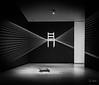 Bilbao - Guggenheim - Chaise Suspendue (François Leroy) Tags: françoisleroy espagne spain paysbasque euskalherria bilbao guipuscoa guggenheim chaises artcontemporain noiretblanc esther estherferrer espacesentrelacés