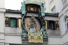 Ankeruhr / Der Anker clock. Front view. Vienna. Austria. IMG_2721 (mxpa) Tags: clock vienna wien architecture architektur architettura arquitectura arquitettura ankeruhr
