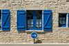 Blue sign and windows (Jan van der Wolf) Tags: map175222vv blue blauw sign verkeersbord facade gevel roadsign trafficsign shutter shutters windows ramen