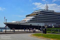 Queen Victoria (Sportybeach Photography (Jonnywalker)) Tags: cruiseship liverpool merseyside queenvictoria ship dock terminal liverpoolcruiseterminal bluesky decking cunard rivermersey wirral