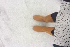 Fresh layer (domit) Tags: dress dot brown boots snow feet belgium brussels laeken home domit