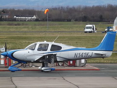 N141KJ Cirrus SR22 Private (Aircaft @ Gloucestershire Airport By James) Tags: gloucestershire airport n141kj cirrus sr22 private egbj james lloyds