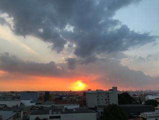 Sunset over my town, São Caetano do Sul, SP, Brazil.