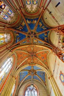 Genève cathédrale Saint-Pierre - plafond de la chapelle des Macchabés